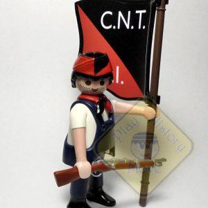 Miliciano CNT-FAI bandera1